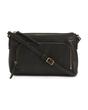 Leather Molly Front Pocket Crossbody