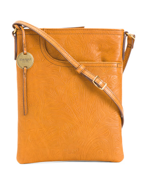 Leather Split Pocket Crossbody