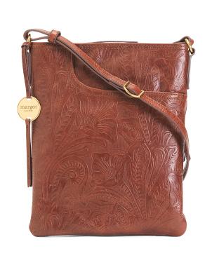 Split Leather Pocket Crossbody