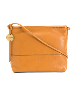 Top Stitch Leather Crossbody