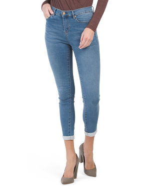 High Waist Supersoft Knit Denim Roll Cuff Jeans
