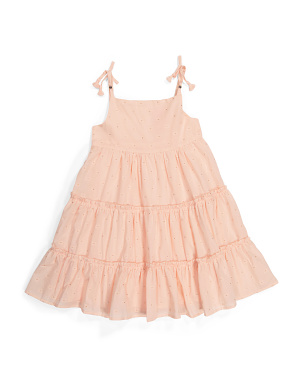 Toddler Girls Tie Strap Tiered Dress