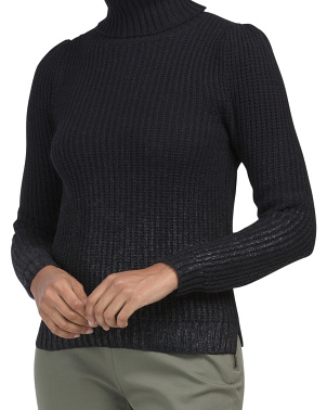Coated Pullover Sweater