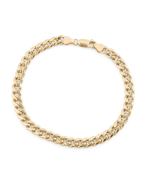 Made In Italy 14k Gold Curb Chain Bracelet