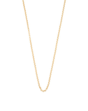 Made In Italy 14k Gold Rolo Chain Necklace