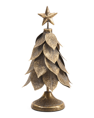 15in Metal Leaf Tree With Star
