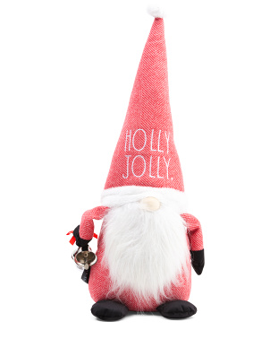 19in Holly Jolly Santa Gnome