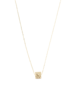 Made In Italy 14k Gold Cube Love Necklace