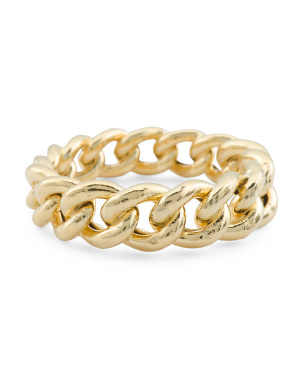 Made In Italy 14k Gold Curb Chain Ring