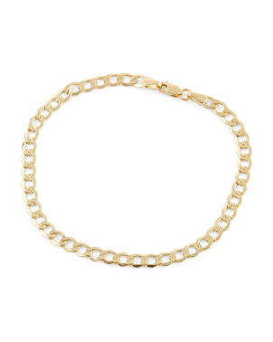 Made In Italy 14k Gold Grumetta Chain Bracelet