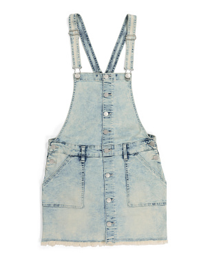 Girls Acid Wash Denim Skirtall