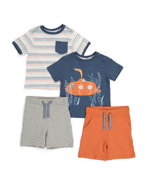 Infant Boys 4pk Submarine Mix & Match Shorts Set