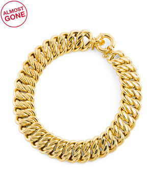 Made In Italy 14k Gold Fancy Link Bracelet