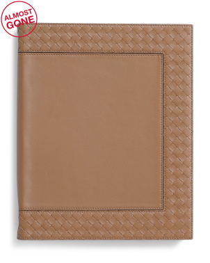 Made In Italy Nappa Intrecciato Leather Note Pad