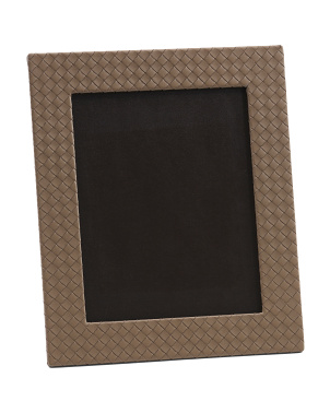 Made In Italy 8x10 Nappa Intrecciato Leather Frame