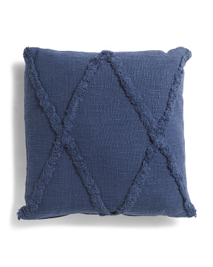 18x18 Overtufted Slub Pillow
