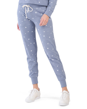 Star Print French Terry Joggers