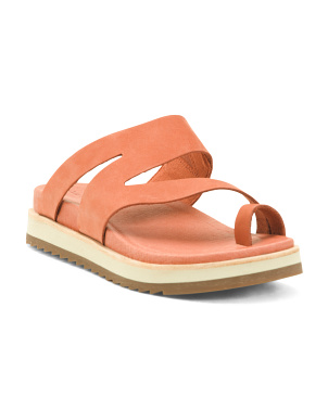 Leather Juno Wrap Sandals