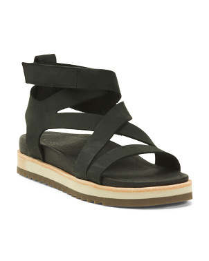 Leather Juno Mid Sandals