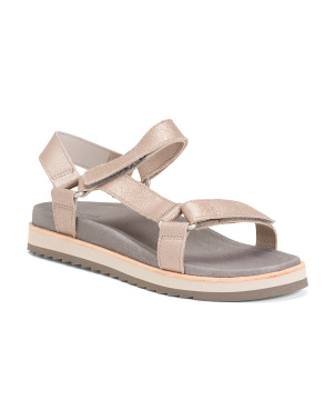 Strappy Leather Comfort Sandals