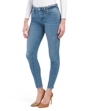 High Rise Jennie Skinny Destructed Jeans