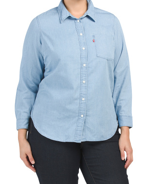 Plus Ultimate Boyfriend Button Down Top