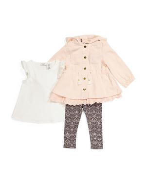 Toddler Girls 3pc Jacket And Legging Set