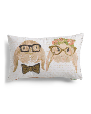 14x24 Mr. & Mrs. Winnie Beaded Pillow