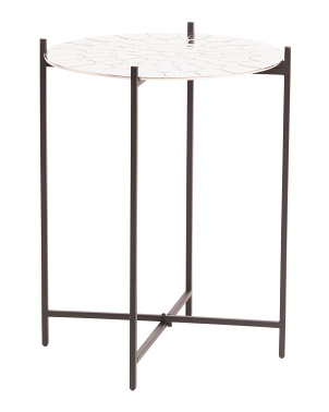 Aluminum Top Accent Table