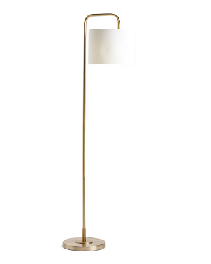 Gold Plating Floor Lamp With Soft Linen Cover