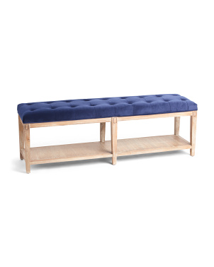 Tufted Long Shelf Bench