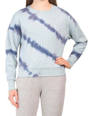 Juniors Tonal Tie Dye Pullover Top
