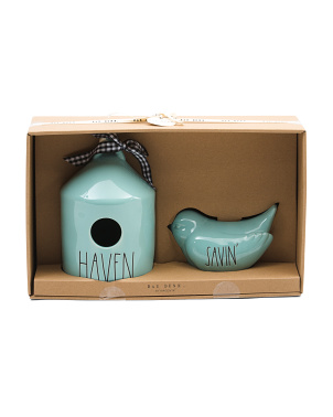 Birdhouse And Bird Bank Set