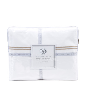 Made In Italy 200tc Double Stitch Sheet Set