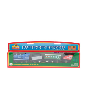 4pc Wooden Passenger Express Train Set