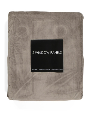54x108 Set Of 2 Lined Heavy Weight Velvet Curtains
