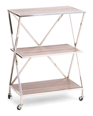 Metal And Wood Shelving Decor