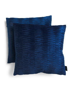 20x20 2pk Scrunchie Velvet Pillows