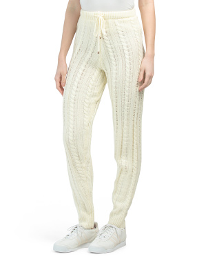 Juniors The Alps Cable Knit Pants