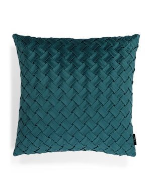 20x20 Velvet Basket Pleat Pillow