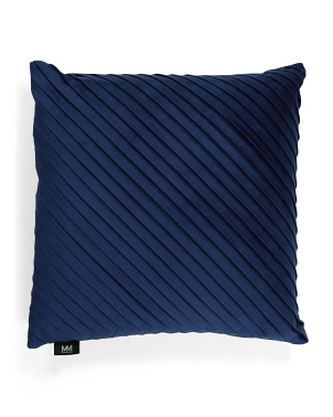 20x20 Velvet Diagonal Fold Pillow