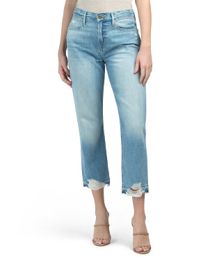 Le Hollywood Crop Released Hem Jeans