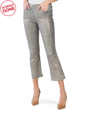 Le Crop Mini Bootcut Leather Pants
