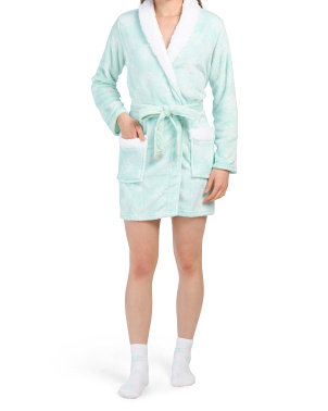 Sherpa Shawl Collar Robe And Socks
