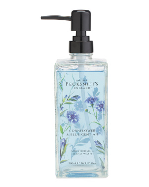 16.9oz Printed Glass Cornflower Gentian Hand Soap