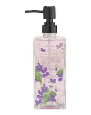 16.9oz Printed Glass Violet And Meadowsweet Hand Soap