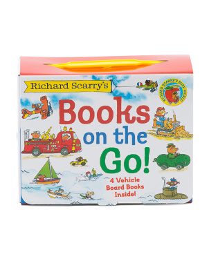 Set Of 4 Richard Scarry's Books On The Go