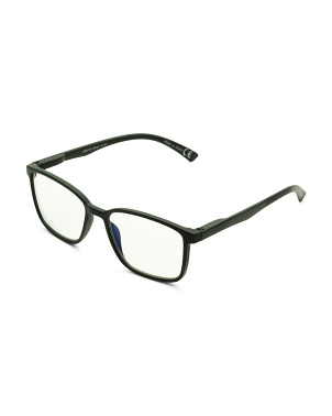 Unisex Crystal Rectangle Blue Light Filtering Glasses