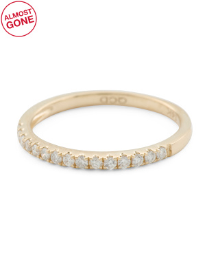 14k Gold 0.17 Tcw Diamond Ring