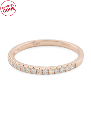 14k Rose Gold 0.17 Tcw Diamond Ring